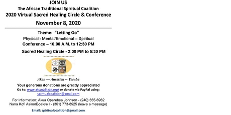 2020 Virtual Sacred Healing Circle & Conference tickets