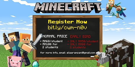 Coding with Minecraft tickets