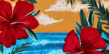 Live Online Paint Party Vintage Hibiscus tickets