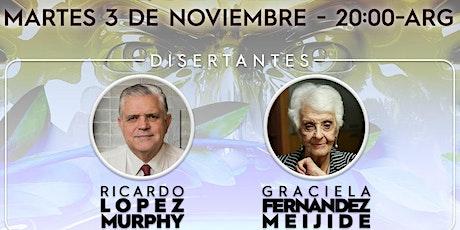 CLUB DE LA LIBERTAD - PENSAR LA ARGENTINA  LOPEZ MURPHY Y FERNANDEZ MEIJIDE entradas