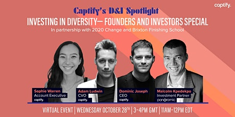 Investing in Diversity— Founders and  Investors Special tickets