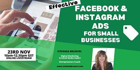 Effective Facebook and Instagram Ads for Small Businesses & Entrepreneurs tickets