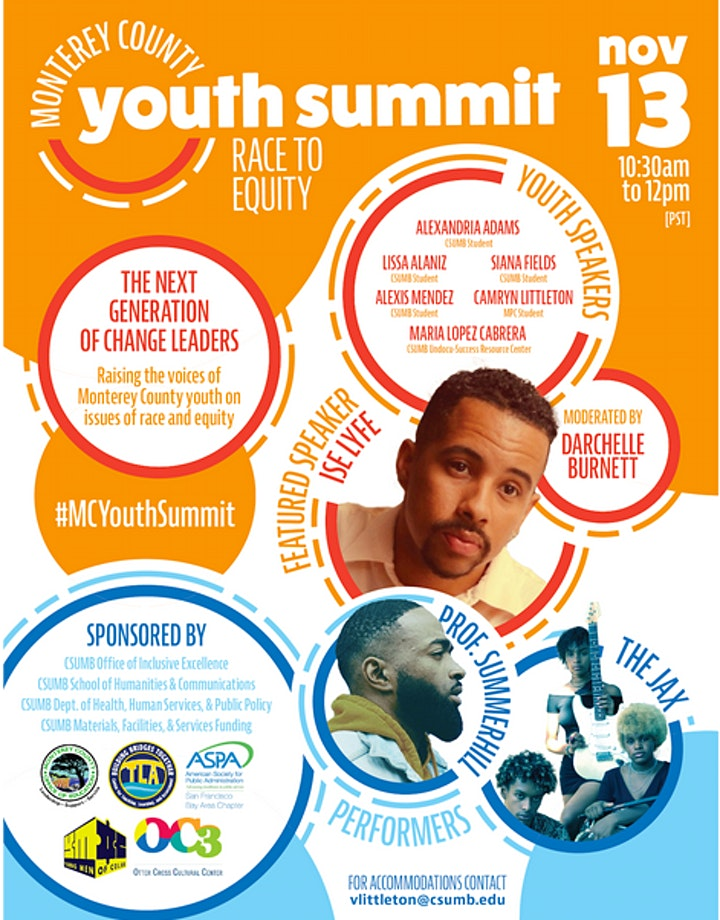 Monterey County Youth Summit: Race to Equity image