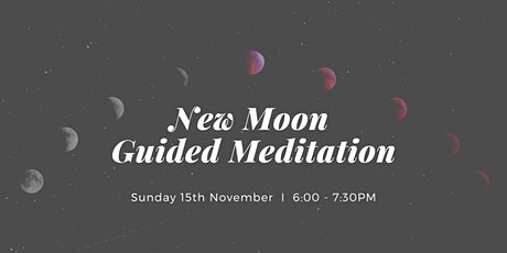 New Moon Guided Meditation & Dessert West End, Sunday 15th November tickets