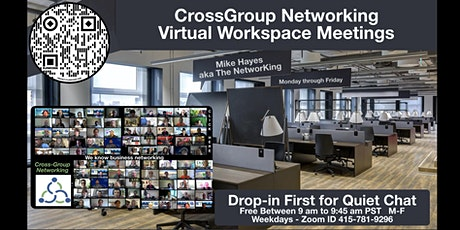 CrossGroup Networking Virtual Workspace Meetings tickets