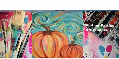 PAINTING PARTIES ART  HALLOWEEN PUMPKINS PAINTING ONLINE tickets
