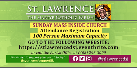INDOORS: SATURDAY, October  31 @ 5:00  PM Vigil Mass Registration boletos