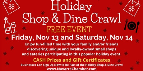 9th Annual Holiday Shop & Dine Crawl tickets
