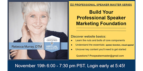 Build Your Professional Speaker Marketing Foundation with Rebecca P. Murray tickets
