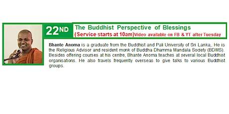 22 Nov Sunday Service:  Talk by Bhante Anoma tickets