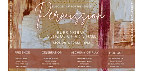 Copy of Permission embodied art series - Vol 3 ALCHEMY OF PLAY tickets