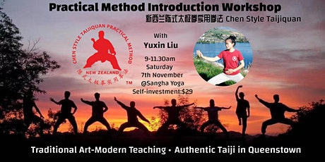 Practical Method Tai Chi Introduction Workshop Queenstown 7th Nov 2020 tickets
