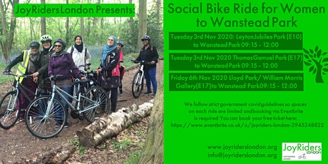 Social Bike Ride for Women from Leyton Jubilee Park to Wanstead park tickets