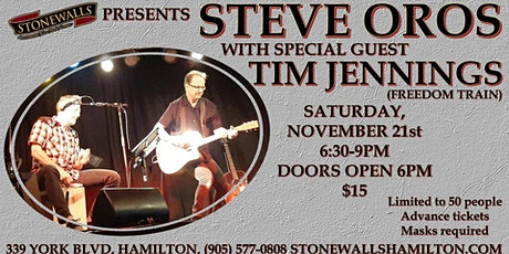 Steve Oros with Special Guest Tim Jennings LIVE at Stonewalls tickets