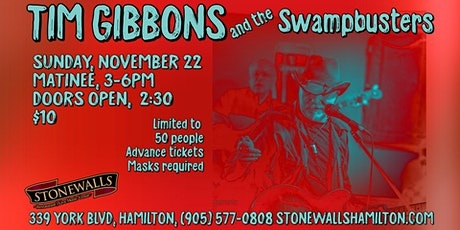 Tim Gibbons and The Swampbusters LIVE at Stonewalls tickets