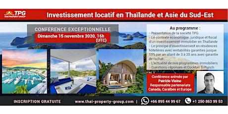 Conférence Web sur l'investissement immobilier en Thaïlande/Asie du Sud-Est tickets