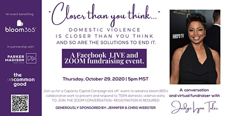 Domestic Violence is Closer Than You Think w/Judge Lynn Toler tickets