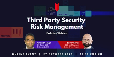 WEBINAR: Third Party Security Risk Management tickets