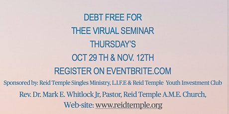 DEBT FREE FOR THEE SEMINAR..... tickets