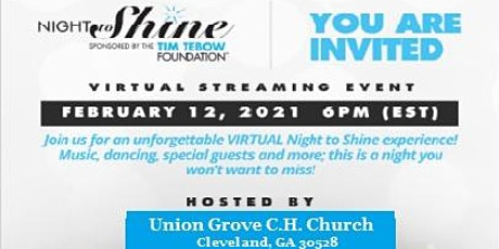 2021 Night to Shine ,VIRTUAL , Union Grove CH Church,Cleveland,GA Guest REG tickets