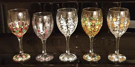 Wine glass dot art - with Prosecco! tickets