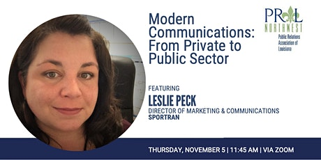Modern Communications: From Private to Public Sector tickets