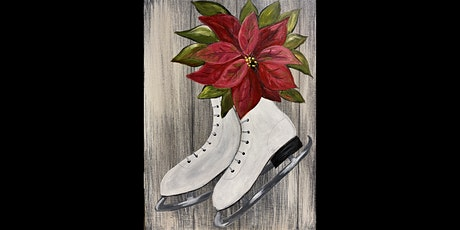 Poinsettia's and Ice Skates on Wood tickets