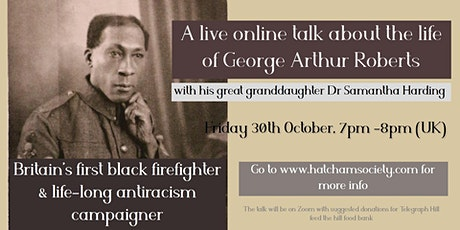 Talk on Britain's first black firefighter George Arthur Roberts tickets