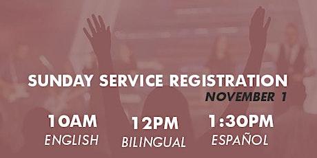 Sunday Registration  Nov 1st / Registración de Domingo 1 de Nov boletos