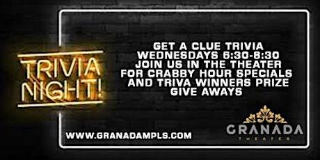 Get A Clue - Trivia Night