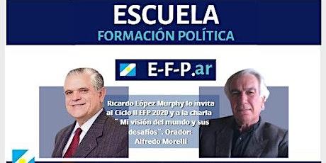 Alfredo Morelli en EFP. Mi visión del mundo. Mié/ 28/oct 19:30hs entradas