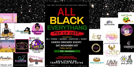 All Black Everythang Pop Up Shop tickets