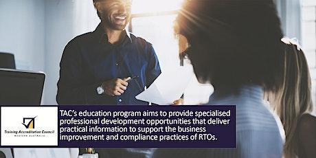 Designing RTO Training & Assessment Strategies tickets
