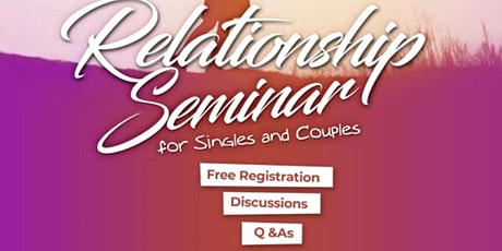 Seminar on Relationship as a Believer tickets