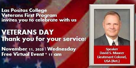 Veterans Day Speaker:  Ret. Lt. Col Dave Maurer, US Army Veteran tickets