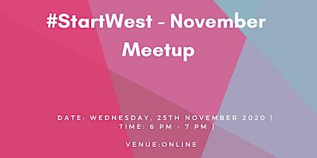 #StartWest - November  Meetup tickets