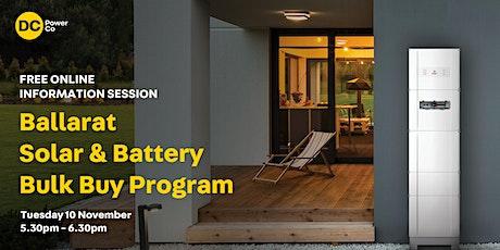 Info session: Ballarat Solar & Battery Bulk Buy tickets