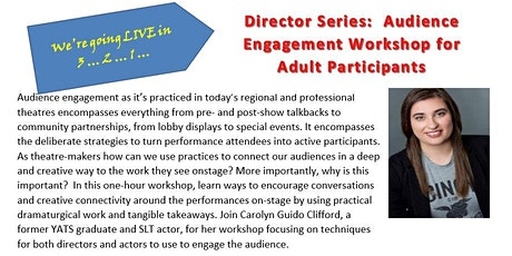 Carolyn Clifford Presents: Audience Engagement Workshop (Adults) tickets