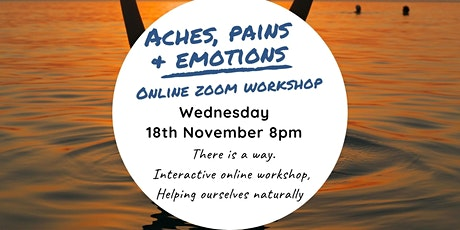 Aches, Pains + Emotions- Online Zoom Workshop tickets