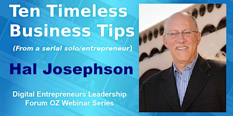 Ten Timeless Business Tips (From a serial solo/entrepreneur) tickets