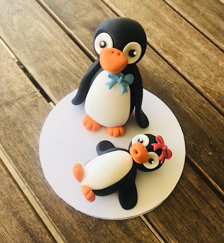 Fondant modelling - Penguin image
