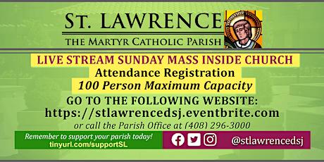 INDOORS: SUNDAY, November 1 @ 11:00 AM LIVE STREAM Mass Registration boletos
