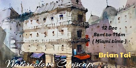Watercolour Cityscape Virtual Workshop tickets
