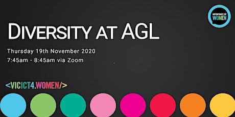 Importance of Women in IT -  Diversity at AGL [Webinar] tickets