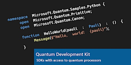 Quantum Software Development for Software Engineers tickets