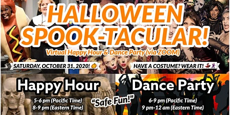 FREE Halloween PartyHappy Hour then Dance Party!!  Virtual Event !! tickets