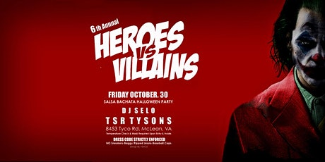 HEROES VS VILLIANS - Halloween Party tickets