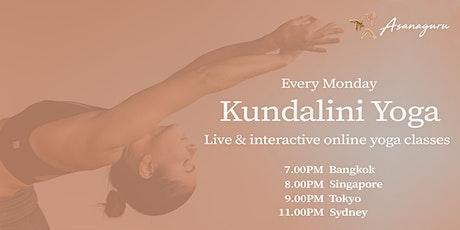 Kundalini Yoga Group Classes by Asanaguru   Mondays evening (APAC) tickets
