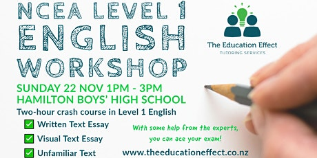 NCEA Level 1 English Workshop tickets