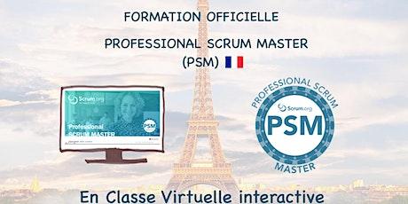 Formation Scrum.org Professional Scrum Master (PSM I) en français billets